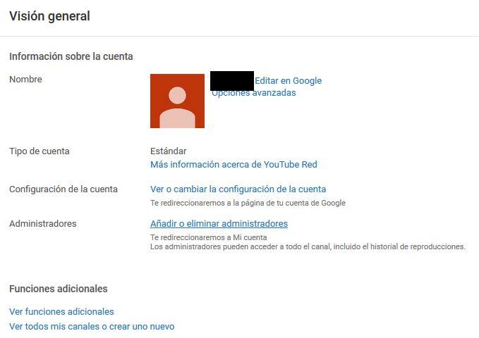 Youtube Agregar administradores