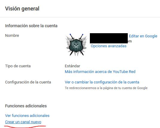 Youtube Crear canal