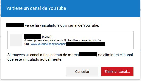 Youtube Eliminar canal