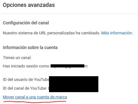 Youtube mover canal