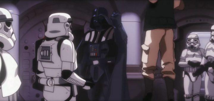 Star Wars Una nueva esperanza estilo anime