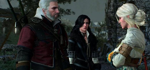 The Witcher Geralt,Yennefer y Ciri