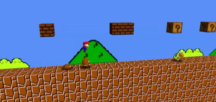 Super Mario Bros recreado en Super Mario 64 con este mod