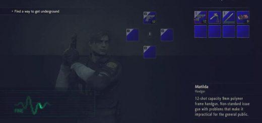 Resident Evil 2 Remake mod UI clásico