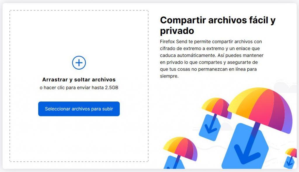 Firefox Send limite