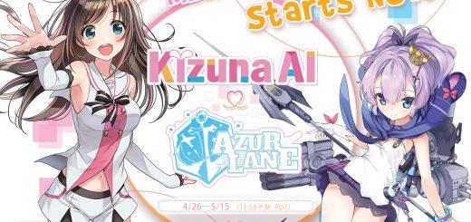 Kizuna AI x Azur Lane colaboración
