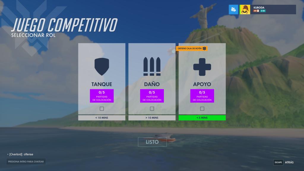 Overwatch roles por competitivo