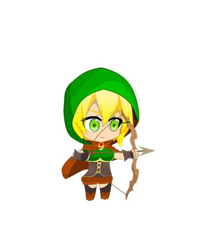 Arquera personaje de  Warriors of Runningland